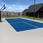 Multi-sport pickleball basketball court