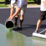 Painting a pickleball court
