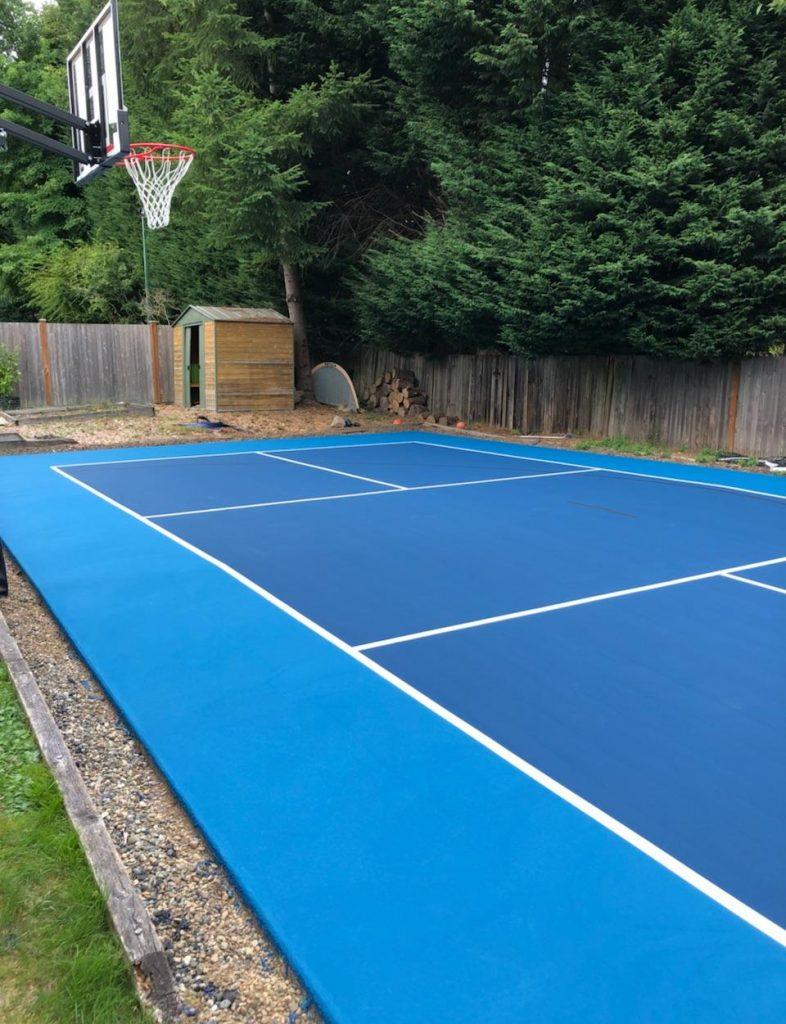 Pickleball Basketball Combo Court