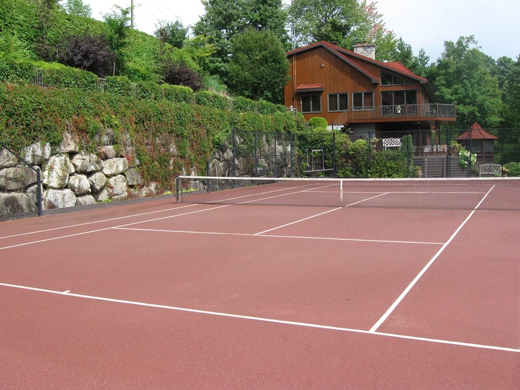 Red Clay Tennis Court Surface