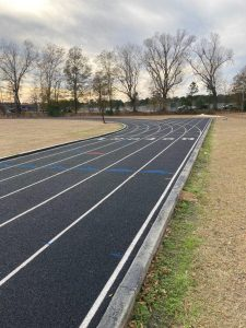 Rubberized Track Surfacing System